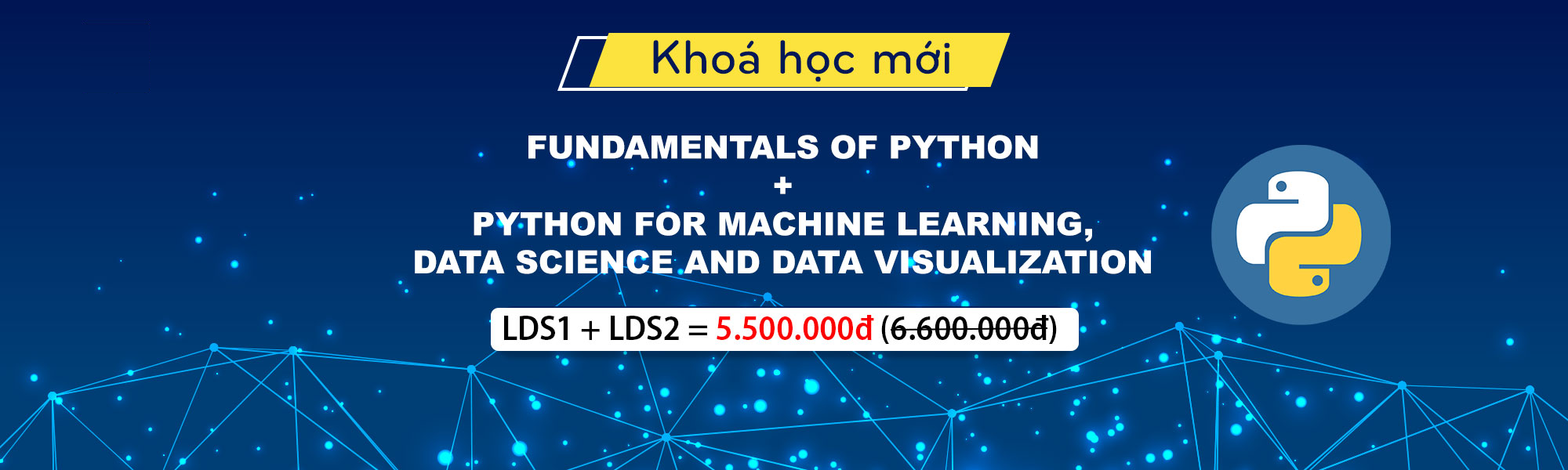 Khóa học Combo Python cơ bản + Python for Machine Learning, Data Science and Data Visualization