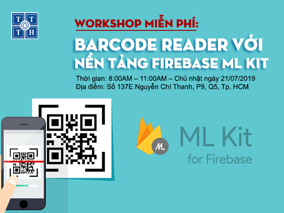 Workshop – Barcode reader với nền tảng Firebase ML Kit