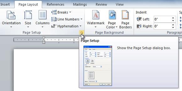 [Word] Cách định Dạng Nhanh Page Layout